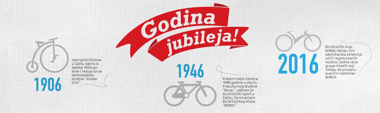 110 godina biciklizma u Čačku i 70 godina biciklističkog kluba Borac
