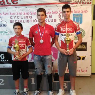 Dve šampionske titule i šest drugih mesta za bicikliste Borca na prvenstvu Srbije