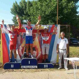 Trostruka pobeda veterana biciklističkog kluba Borac na prvenstvu Srbije