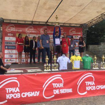 """Stefan Stefanović najbolji brdski vozač na medjunarodnoj biciklističkoj trci """"Kroz Srbiju"""""""
