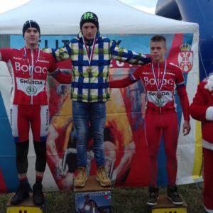 Juniori Bogdan Milosevic i Jovan Djumic na pobednickom postolju